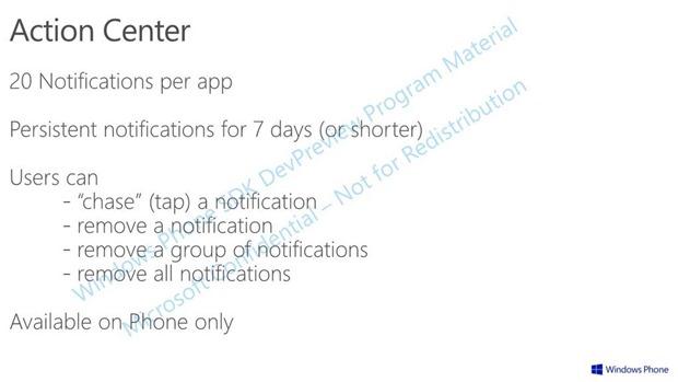 Centro de acción notificaciones