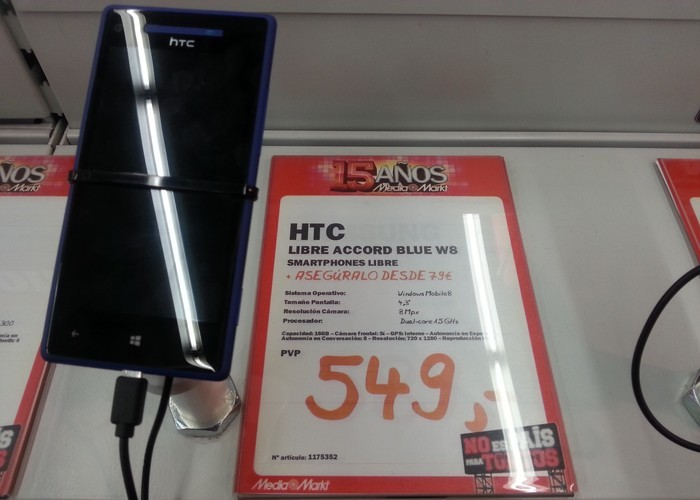 Precio HTC 8X Accord