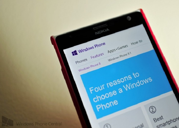 Windows Phone 8.1 se muestra en la web