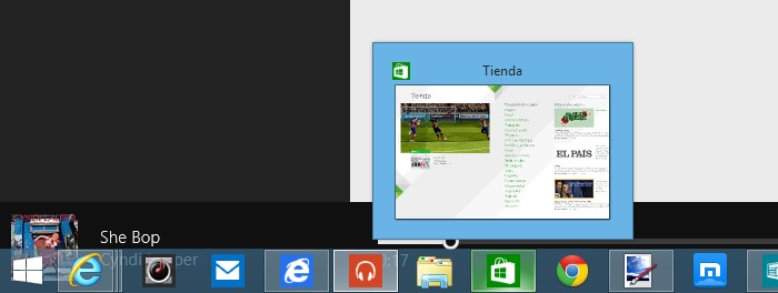 barra tareas disponible windows 8.1 update 1