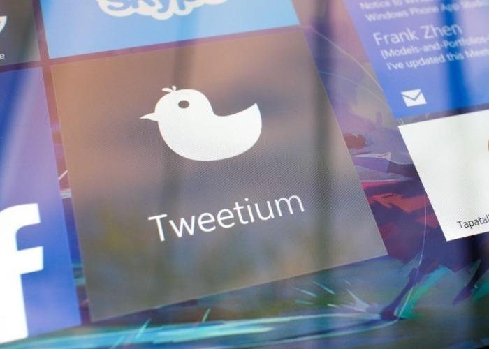 Aplicación Tweetium