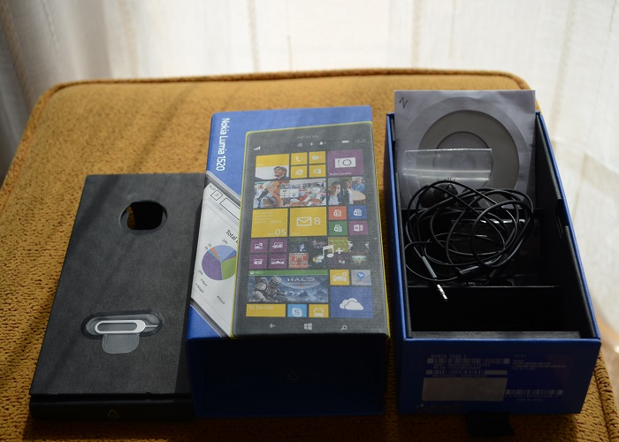 Caja Nokia Lumia 1520 accesorios