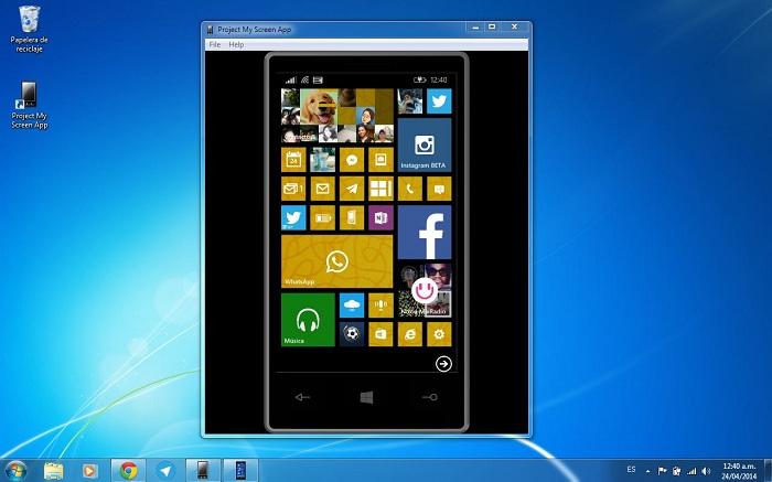 Project my screen app Windows