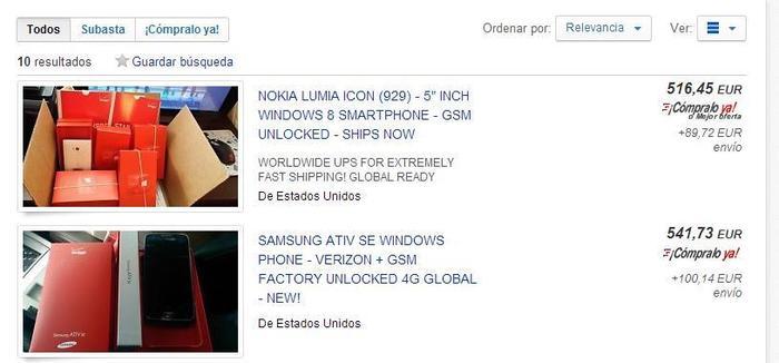 eBay Lumia Icon ATIV SE