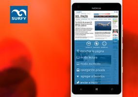 Aplicación navegador Surfy 3.8