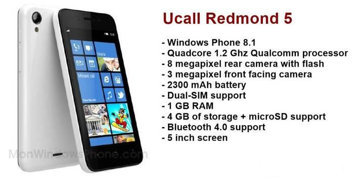 Ucall Redmond 5 Windows Phone 8.1