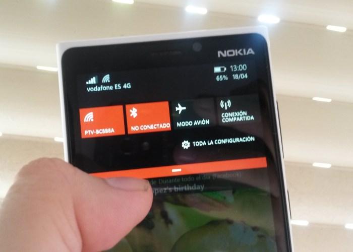 acceder notificacion action center desde la pantalla bloqueo