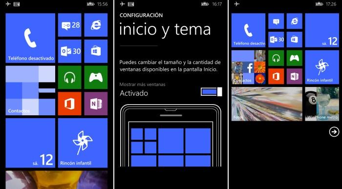 configurar numero columnas windows phone 8.1