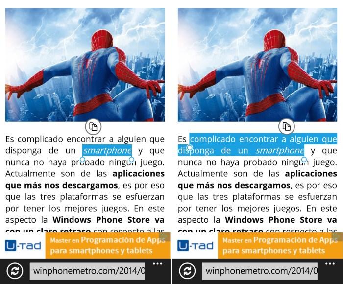 copiar al portapapeles windows phone