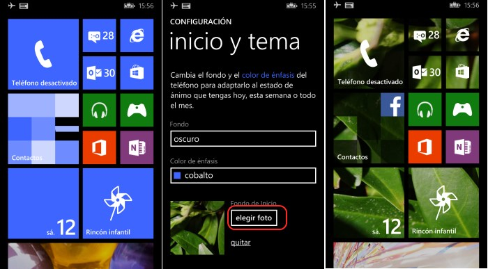 fondo inicio windows phone 8.1