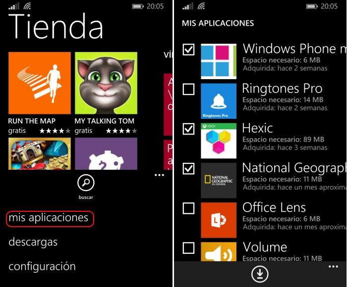 reinstalar aplicaciones windows phone 8.1