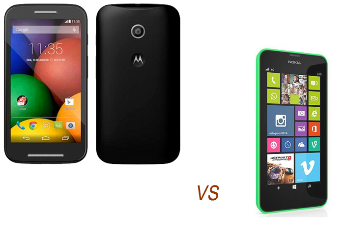 Nokia Lumia 630 vs Motorola E