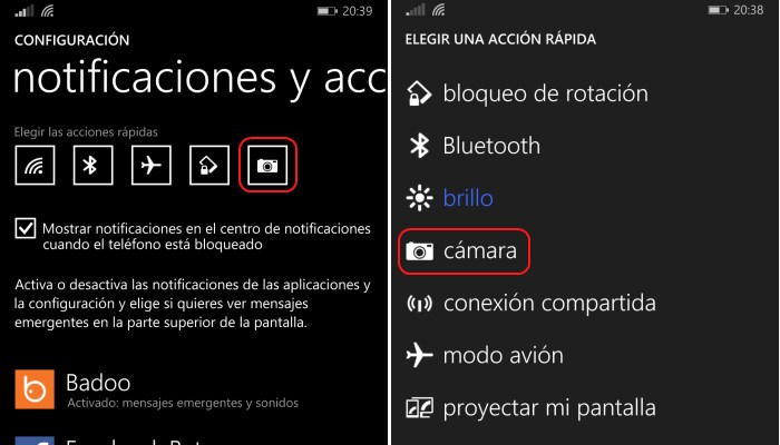 configura camara windows phone 8.1