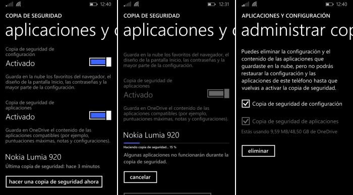 copia seguridad windows phone 8.1