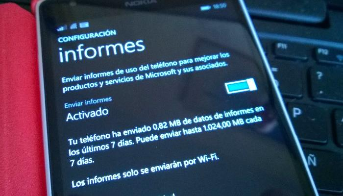 informes windows phone