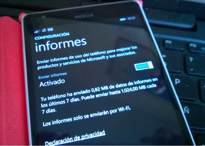 informes windows phone