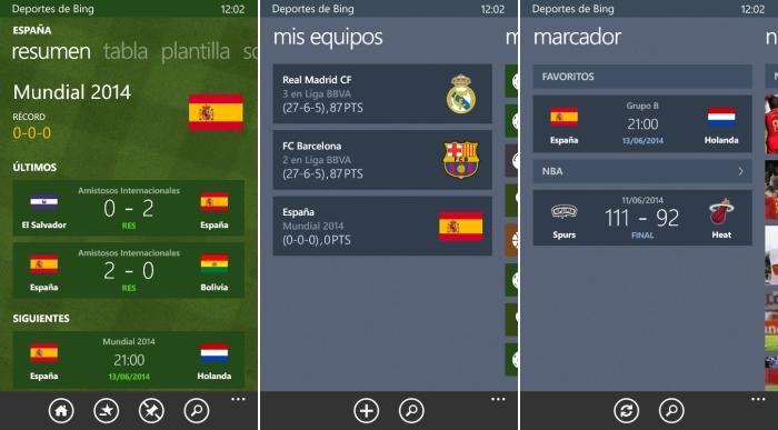 Deportes de Bing Mundial