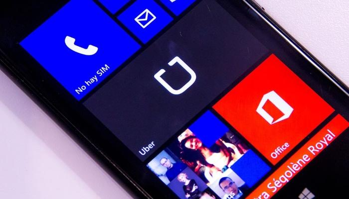 Uber disponible en la Windows Phone Store