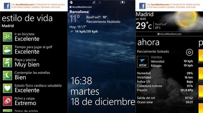 AccuWeather Windows Phone