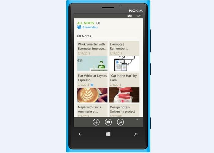 Evernote Windows Phone