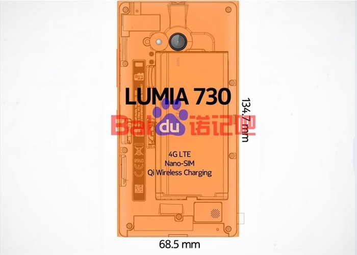 Lumia 730 medidas