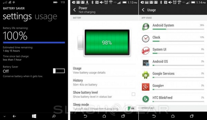 batería windows phone android 1