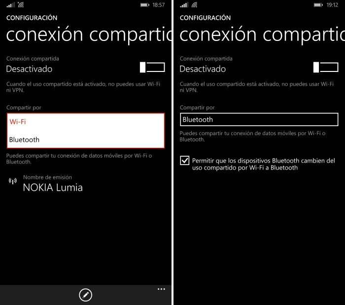 configurar conexion compartida windows 8.1 update