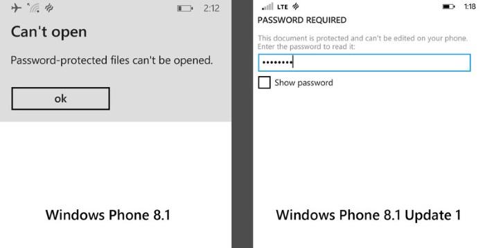 office password windows phone 8.1