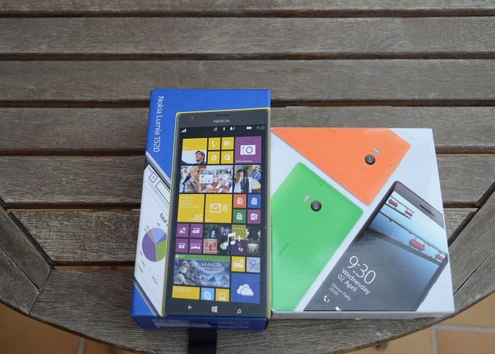 Nokia Lumia 930 y Nokia Lumia 1520 caja
