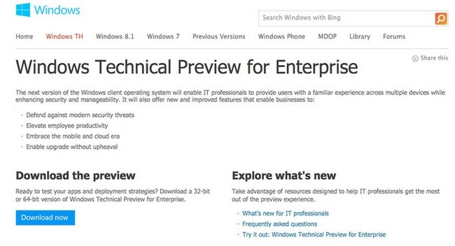 Windows 9 Technical Preview