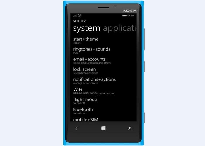 Windows Phone 8.1 Update 1 ajustes
