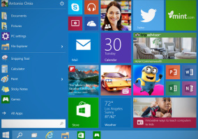 Windows 10, menú de inicio