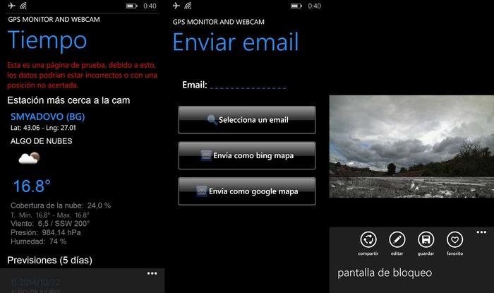Gps monitor & webcam otros