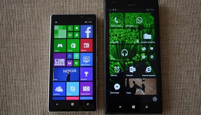 Nokia Lumia 930 vs Nokia Lumia 1520 pantalla