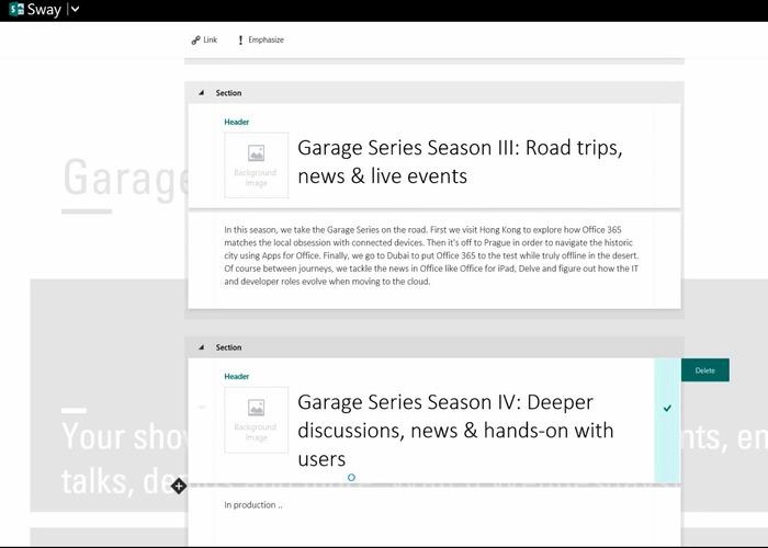 Office Sway, nueva aplicación para hacer presentaciones