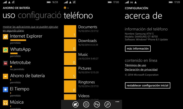 Samsung ATIV S Windows Phone 8.1.2
