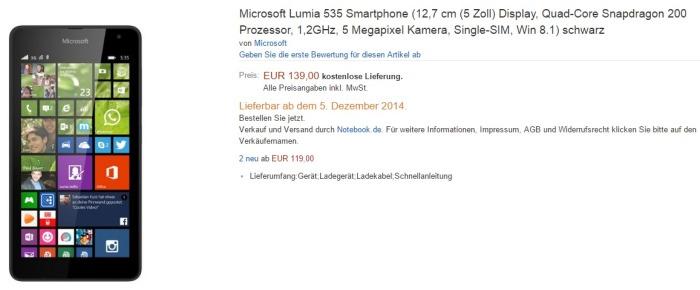 Lumia 535 reserva