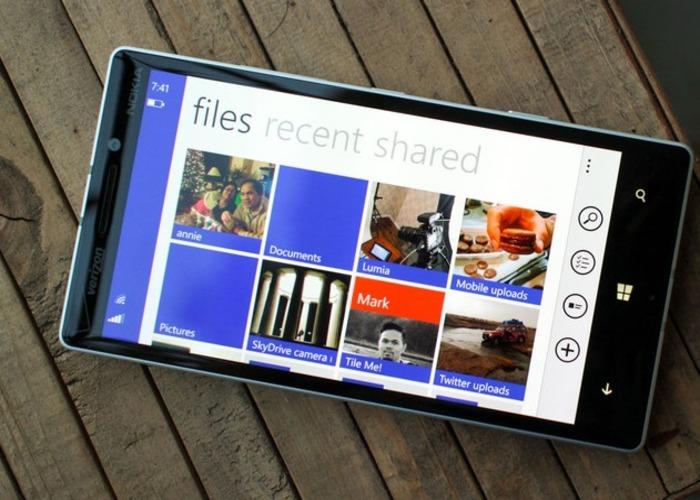 OneDrive Windows Phone interfaz
