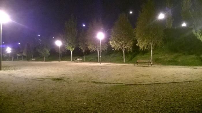 nokia lumia 735 foto nocturna parque