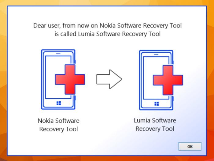 nokia software recovery tool pasa a ser lumia software recovery tool