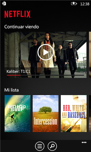 Netflix screenshot Windows Phone