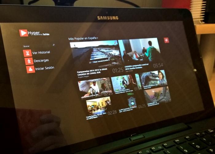 Hyper for YouTube para Windows 8