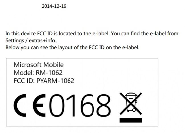 FCC Microsoft Lumia 1330