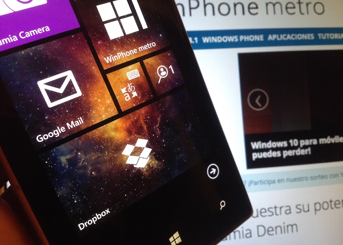 DropBox para Windows Phone tile