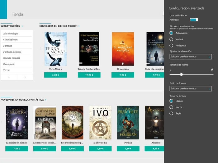 Kobo Books captura