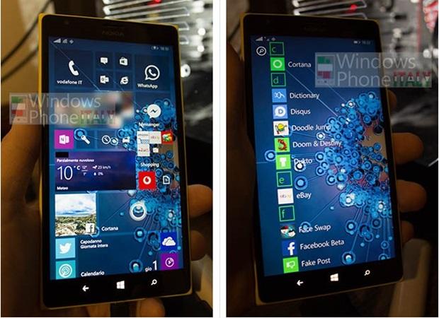 Start Screen Windows Mobile 10 rumor