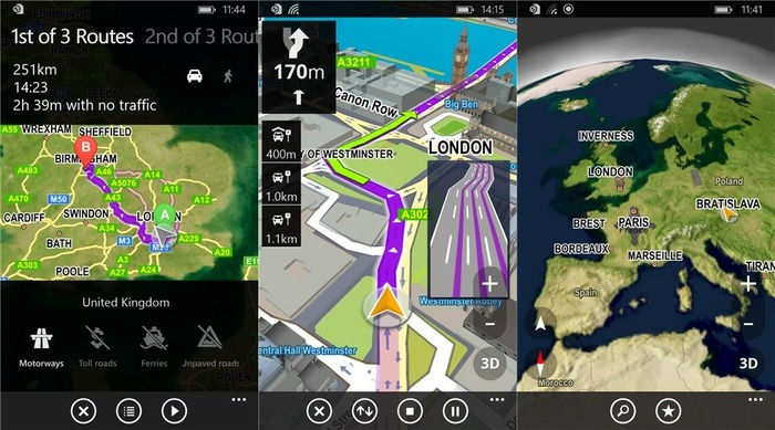 Sygic GPS Navigation Windows Phone