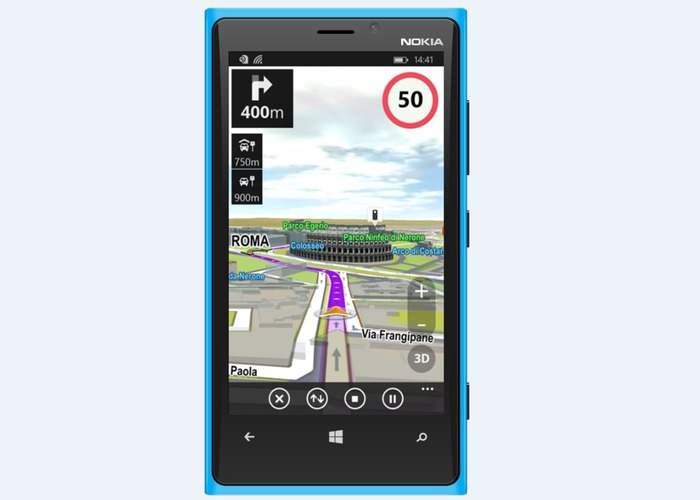 Sygic GPS Navigation cabecera