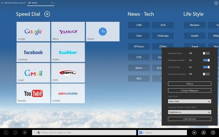 UC Browser HD Windows RT