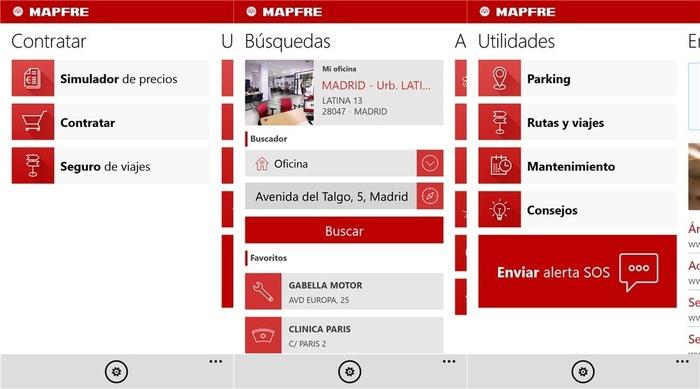 MAPFRE Windows Phone